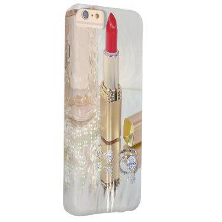 batom e jóia vermelhos no espelho capas iPhone 6 plus barely there