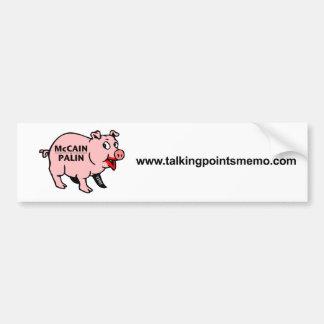Batom em um porco adesivo