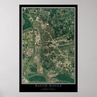Baton Rouge Louisiana da arte do satélite do Poster
