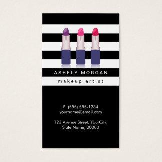 Batons modernos da composição - listras brancas cartão de visitas