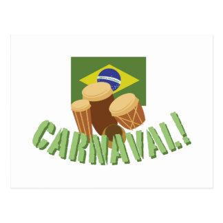 Batucada rufa Carnaval Cartão Postal
