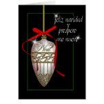 bauble espanhol do White Christmas da pérola Cartão