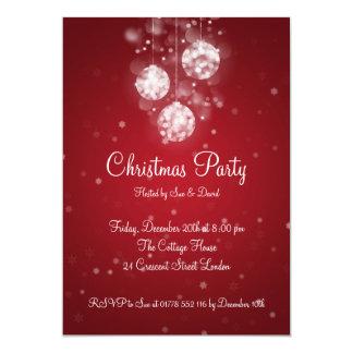 Baubles Sparkling elegantes do convite de festas