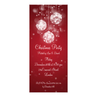 Baubles Sparkling elegantes do convite de festas v