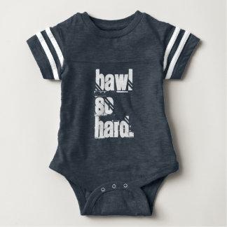 """""""Bawl assim que"""" Bodysuit duro do futebol do bebê Body Para Bebê"""