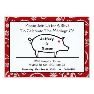 BBQ Reception Invitations Personalized Invites