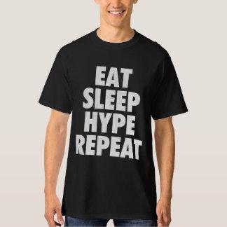 BBR COMEM o t-shirt da REPETIÇÃO da CAMPANHA Camiseta