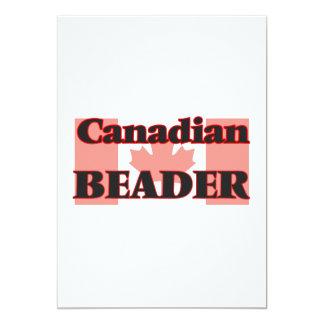 Beader canadense convite 12.7 x 17.78cm