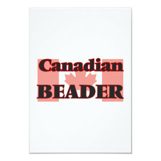 Beader canadense convite 8.89 x 12.7cm