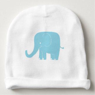 Beanie azul do bebê do elefante gorro para bebê