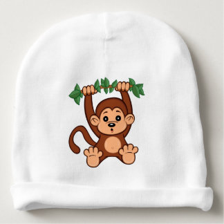 Beanie bonito do bebê do macaco dos desenhos gorro para bebê