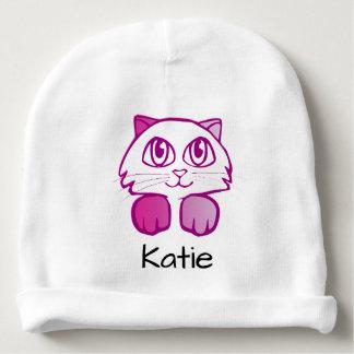 Beanie conhecido customizável do gato bonito do gorro para bebê