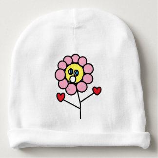Beanie cor-de-rosa adorável do bebê do desenho da gorro para bebê
