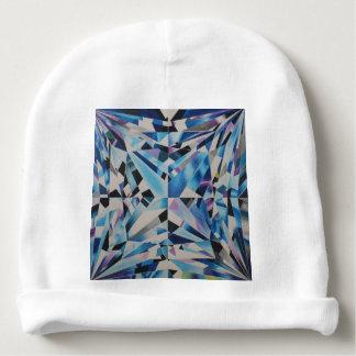 Beanie de vidro do algodão do bebê do diamante gorro para bebê