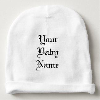 Beanie do bebê com nome indicado por letras gorro para bebê