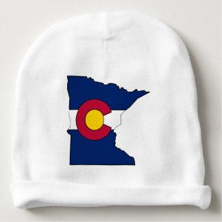 Beanie do bebê do esboço de Minnesota da bandeira Gorro Para Bebê