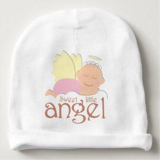 Beanie pequeno doce do algodão do bebê do anjo gorro para bebê