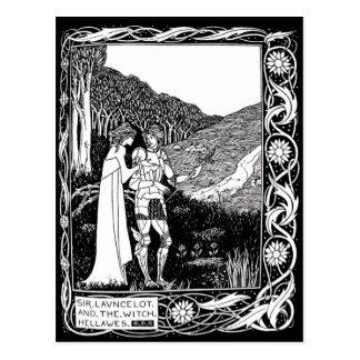 Beardsley Lancelot & cartão da bruxa