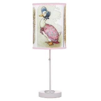 Beatrix Potter, lâmpada do pato da poça de Jemima