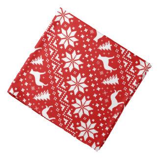 Beauceron mostra em silhueta o vermelho do teste lenço