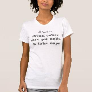 beba o café, salvar pitbull & tome o t-shirt das camiseta