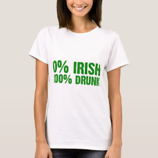 Bebado de 100% camiseta