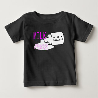 Bebado de leite camiseta para bebê