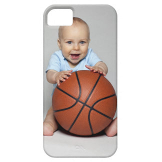 Bebé (6-9 meses) que guardara o basquetebol, capa barely there para iPhone 5