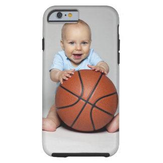 Bebé (6-9 meses) que guardara o basquetebol, capa tough para iPhone 6