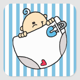 Bebé Adesivo Quadrado