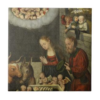 Bebê adorador Jesus dos pastores por Cranach