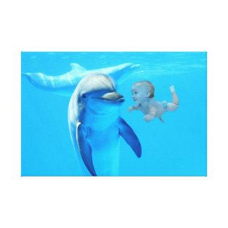 Bebé and dolphin