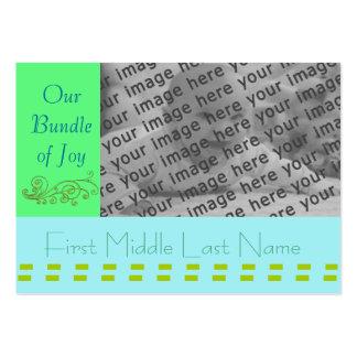 Bebê Annoucement - personalizado - personalizado Cartão De Visita Grande