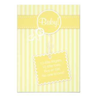 Bebê! Anúncio (convite) Convite 12.7 X 17.78cm