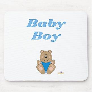 Bebé azul bonito do babador do urso de Brown Mousepads