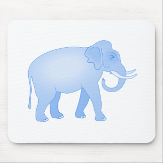 Bebé azul do elefante mouse pad