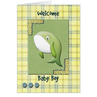 Bebê bem-vindo cartão