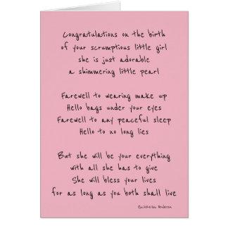 Bebé bem-vindo cartão
