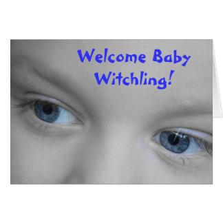 Bebê bem-vindo Witchling - cartão novo do bebê de