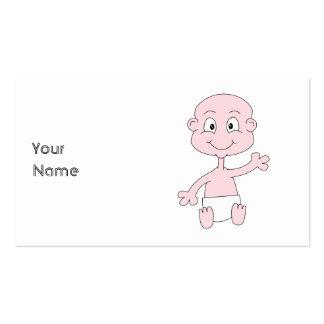 Bebê bonito de ondulação cartão de visita