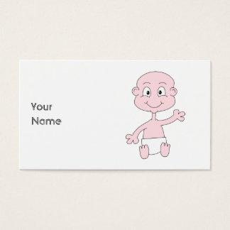 Bebê bonito de ondulação cartão de visitas