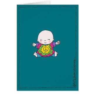 """Bebê bonito do """"aniversário da paz da tintura do cartão"""