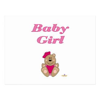 Bebé bonito do chapéu do marinheiro do rosa do urs cartão postal