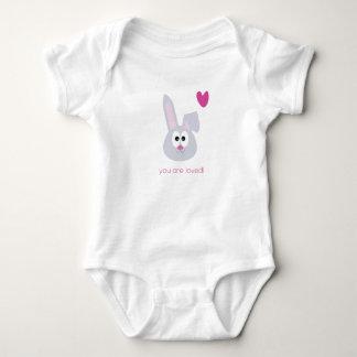 Bebê bonito do coelho você é camisa recém-nascida