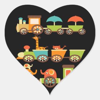 Bebê bonito dos miúdos dos presentes do trem dos a adesivo de coração