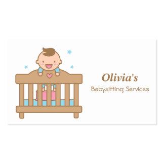 Bebé bonito em cartões de visitas Babysitting do