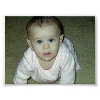 Bebê bonito pôster