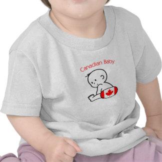 Bebê canadense camiseta