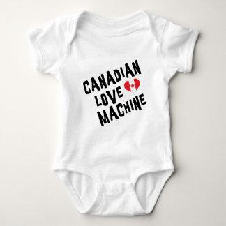 Bebê canadense da camisa da máquina T do amor Tshirt