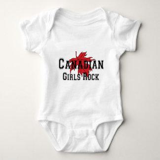 Bebê canadense da camisa da rocha T das meninas Camisetas